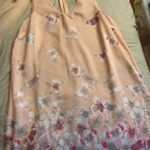 Pink halter flowered sundress